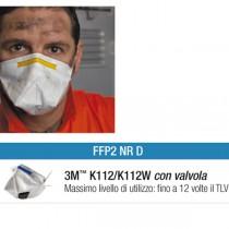 Scatola 10 MASCHERINE K112W FFP2 con valvola
