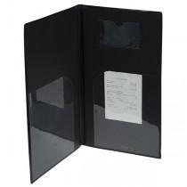 PORTACONTO 23,7x12,5cm NERO in PVC BASIC con 4_2 BUSTE FISSE