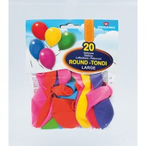 BLISTER 20 PALLONCINI LARGE 35CM COLORI ASSORTITI PEGASO