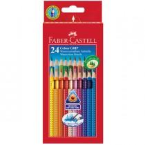 ASTUCCIO 24 PASTELLI COLORATI ACQUERELLABILI Color Grip FABER CASTELL